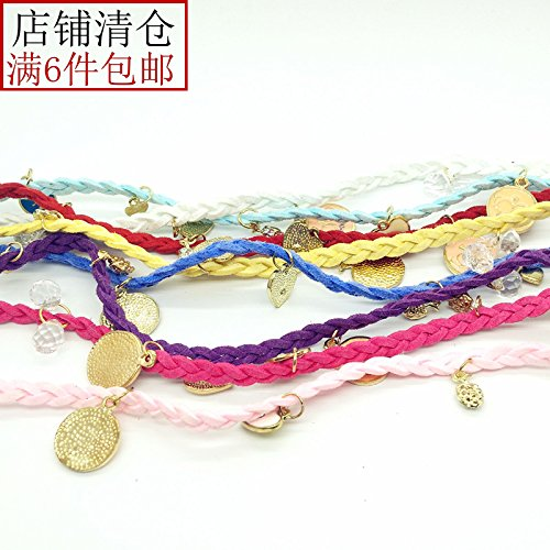 Korean jewelry new multi-element love pearl bracelet multilayer woven leather bracelet jewelry female S0017