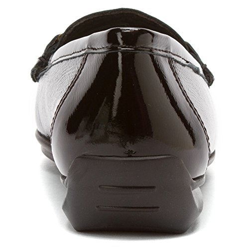 Ara Womens Sigourney Loafer Zwart Crinkle Patent