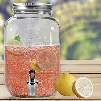Clic-And-Get 3,5 Liter Getränkespender Glance mit Hahn Saftspender ...