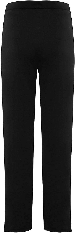 Pantalone da donna a righe a contrasto con bottoni laterali