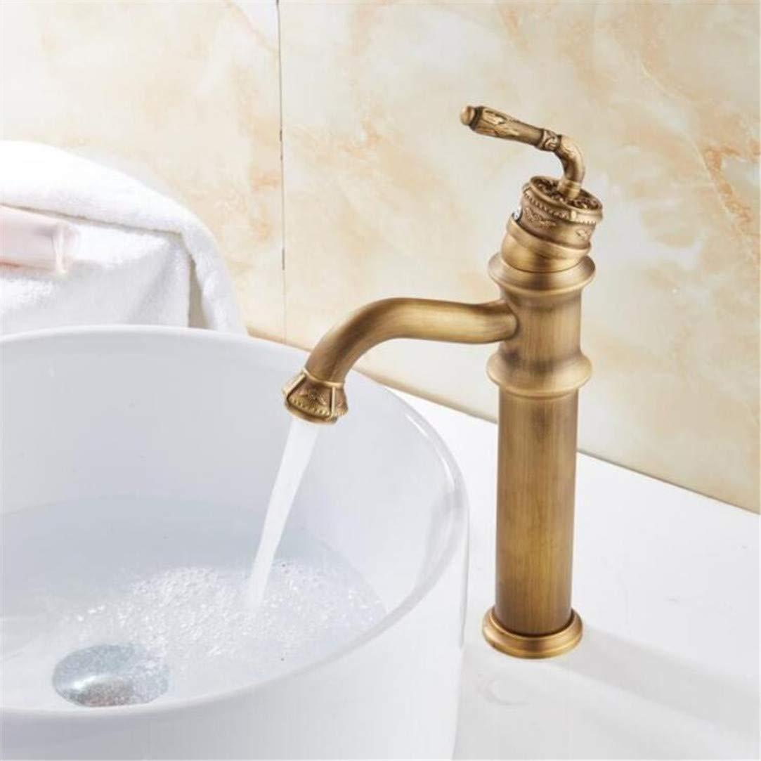 Retro Antike Geschnitzte Becken Wasserhahn Waschbecken Wasserhahn Luxus Becken Mixer Waschbecken Wasserhahn Messing Wasserhahn