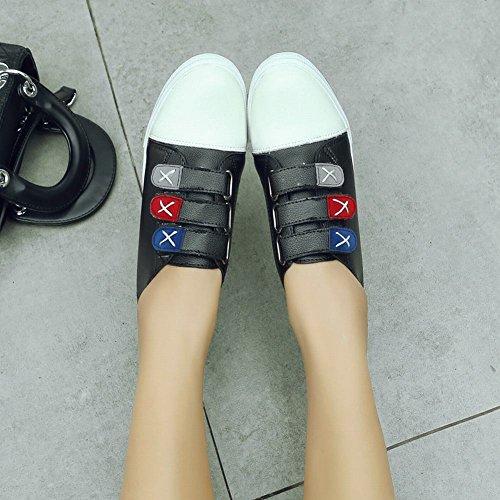 Mee Shoes Damen flach Klettverschluss Geschlossen Sneaker Schwarz