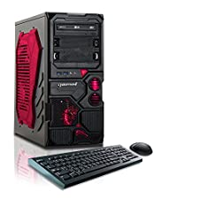 CybertronPC Borg-Q (Red) TGM4213F Gaming PC (3.8 GHz AMD FX-4130 Quad Core, 1GB GeForce GT610, 8GB DDR3 1600MHz, 1TB HDD, Windows 10 Home 64-Bit)