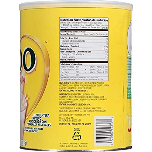 NESTLE NIDO Fortificada Dry Milk 56.3 Ounce. Canister (2 Pack)