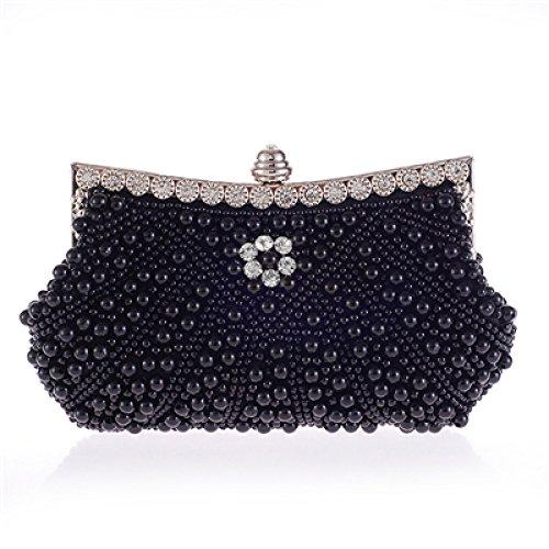 Bags Bags Bag And Handbags Bags European American Dinner Rhinestone Fashion Bags Handbags Bride Pearl Cheongsam XIAOLONGY Clutch 7295Black Clutch TqZgww