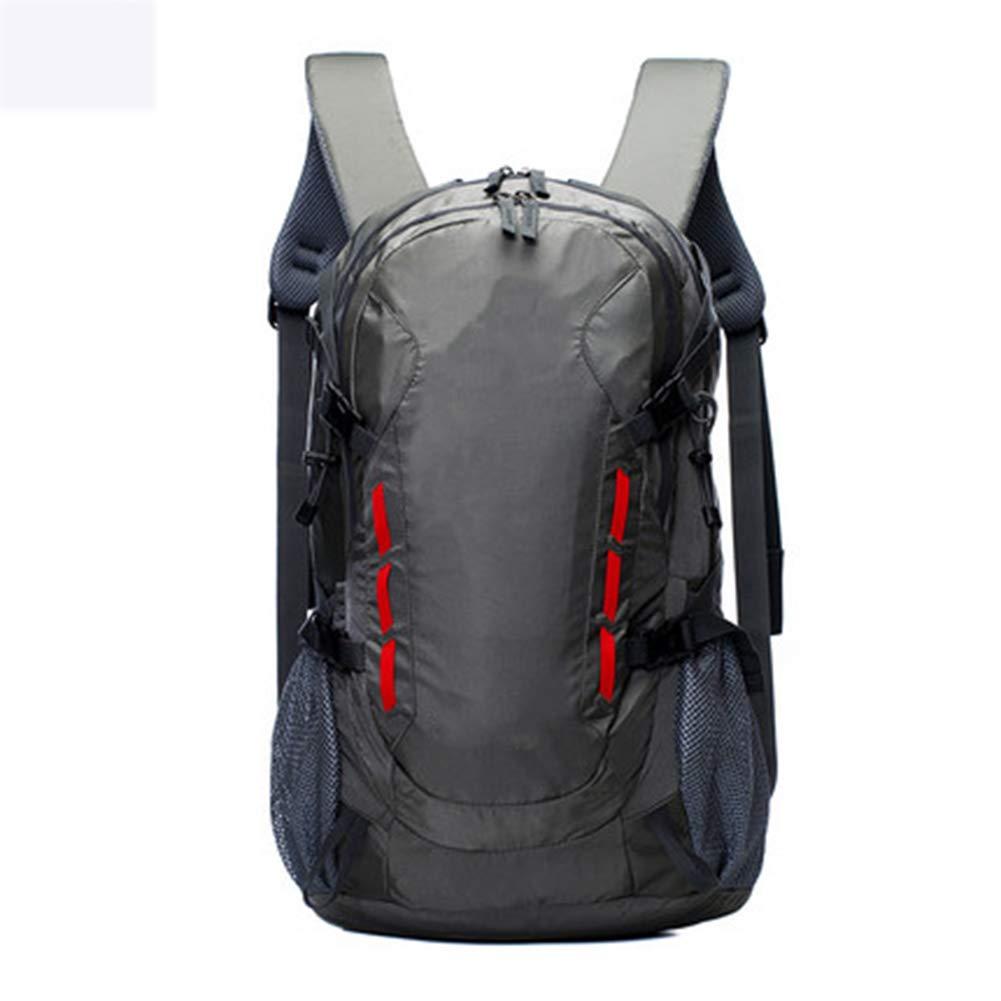 40Lアウトドアスポーツハイキングバックパック、 ナイロン布、 ロッククライミング/観光、 男性と女性,Gray B07QWLM3K4 Gray