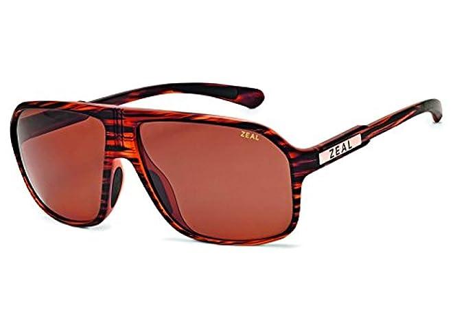 ac2df02e1c Zeal Optics Sawyer Polarized Sunglasses - Matte Wood Grain Frame with  Copper Lens