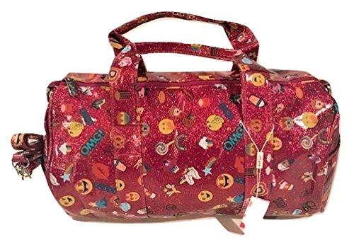 Bari Lynn Emoji Fuschia Glitter Duffle Bag - FUN! Fuschia Duffle