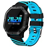 Pard Fitness Tracker, Heart Rate Sport Bracelet, Ultra Slim Smart Tracker with Blood Pressure/Sleep Monitor for Android and iOS Smartphones (K5 Blue)