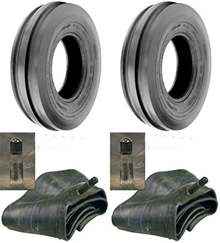 LOT OF TWO (2) 7.50-16 7.50X16 750-16 Tri Rib (3 Rib) F-2 Tires with Tubes 8 PLY RATED ()