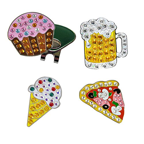 Navika Junk Food Swarovski Crystal Ball Marker Combo with Magnetic ONE Hat Clip