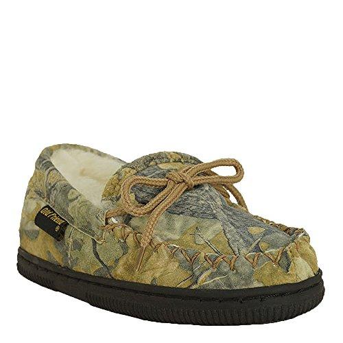 (Old Friend Camouflage Loafer Kids Toddler-Youth Slipper 8 M US Toddler Chestnut)