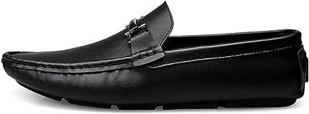 Zapatos para Hombre Casual Deslizamiento en los Zapatos Formales de los Hombres de los Holgazanes de los Zapatos Mocasines de Cuero de conducción