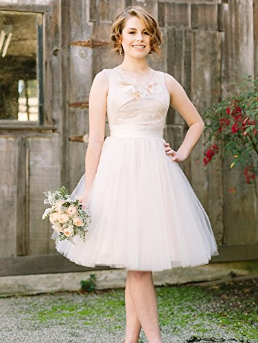 Lace Dress Bridal Champagne Wedding for Dreagel Women line A Vintage Dress Short fH8YHqT