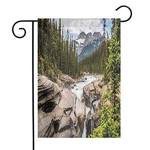 Mannwarehouse Americana Landscape Decor Garden Flag River Float in Forest Northern Recreation Camping Rafting Woods Print Decorative Flags for Garden Yard Lawn W12 x L18 Multi (Best River Rafting In Washington State)
