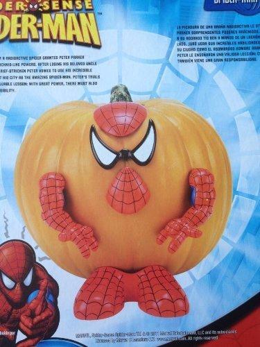 Halloween Pumpkin Push Ins 5 Ct. Pumpkin Decorator (Spiderman) by PMG -
