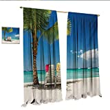 Best Tommy Bahama Beach Boats - Seaside Blackout Draperies Bedroom Relaxing Scene on Remote Review