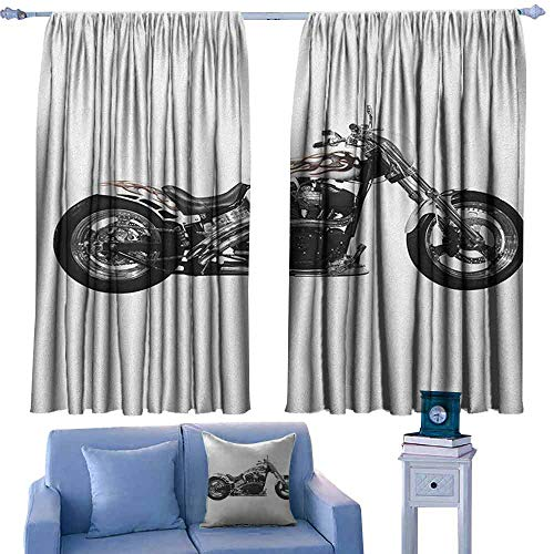 Bike Threads Hot Throttle - Manly Bedroom balcony living room curtain Motorbike Hipster Style Dangerous Risky Ride Driving Vehicle Throttle Chopper Suitable for Bedroom Living Room Study, etc.72