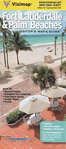 Read Online FORT LAUDERDALE & PALM BEACHES VISITOR'S MAP & GUIDE /FLORIDA /HUGE FOLDOUT /INSETS++ pdf epub
