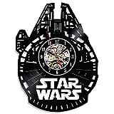 Star Wars Theme Black Vinyl Record Handmade Clock For Sale