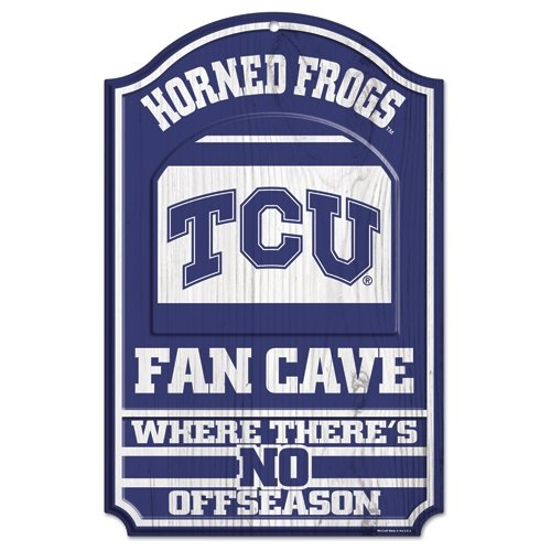 Wincraft NCAA Texas Christian University Wood Sign, 11