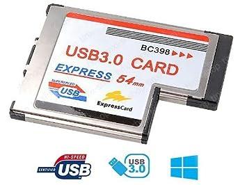 tinxi AKE - Tarjeta adaptadora ExpressCard (54 mm) con 2 ...