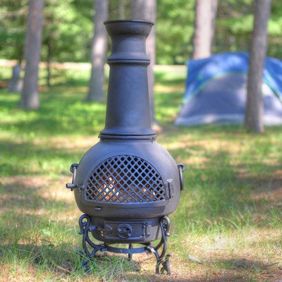 Gatsby Style Chiminea Color: Charcoal