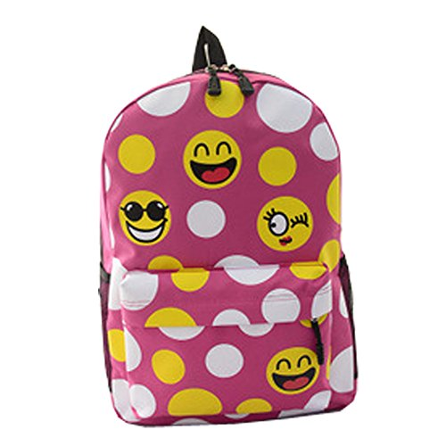 top-shop-womens-canvas-smilies-expression-backpack-travel-daypack-tote-school-shoulder-pink-bags