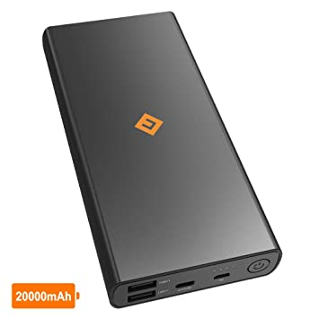 NOVOO - Batería Externa 20000mAh, Powerbank con 3 Puertos (1 USB-C & 2 USB-A), Cargador Portátil Carga Rápida para Moviles, iPhone, Tabletas