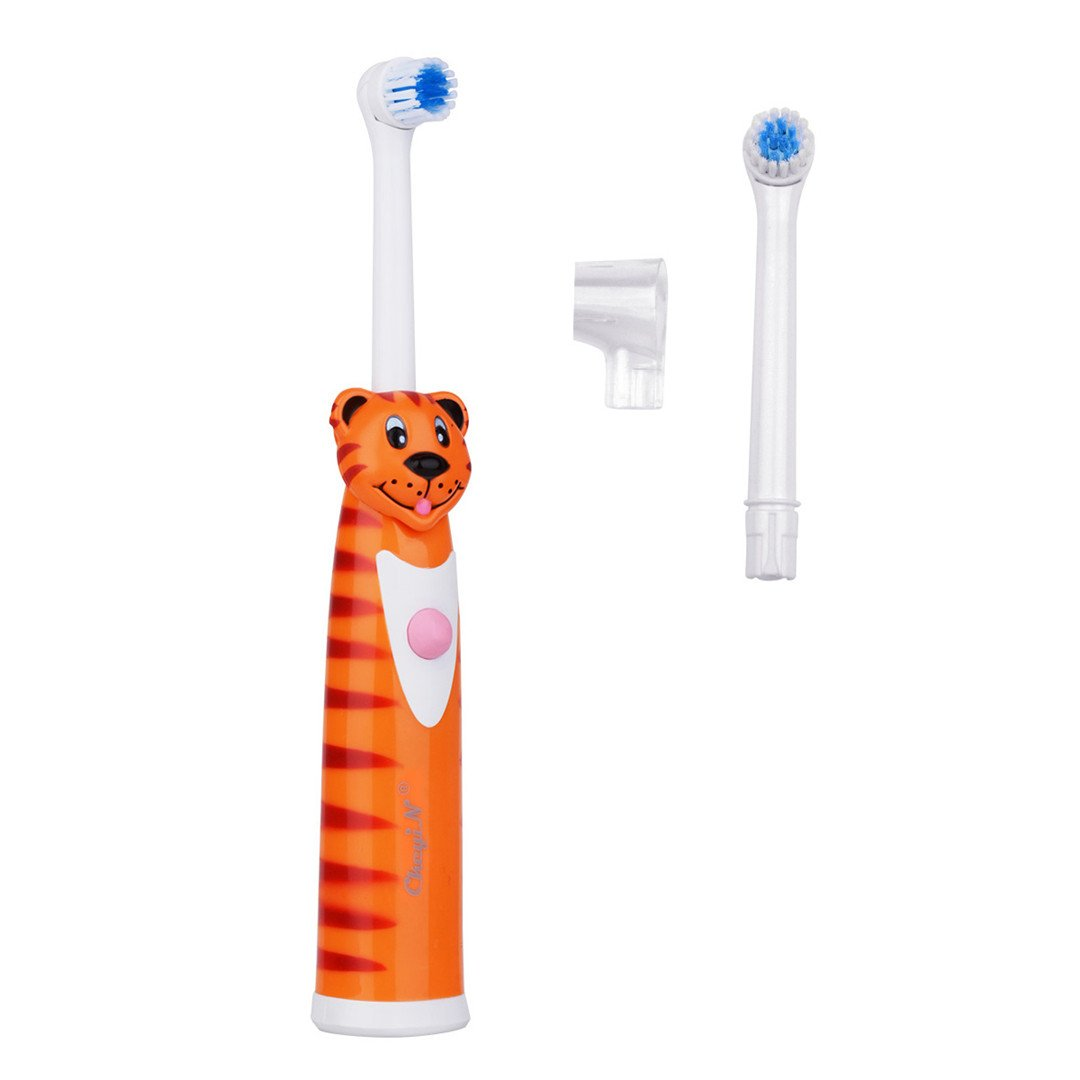 CkeyiN-2 Cabeza de Cepillo de Dibujos animados Niños Cepillo de Dientes Eléctrico/Naranja: Amazon.es: Salud y cuidado personal