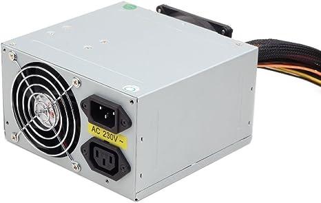 EJC Avenue 500W Dual Fan ATX/BTX PSU - Fuente de alimentación conmutable con 2 Ventiladores silenciosos de 8 cm para Ordenador: Amazon.es: Informática
