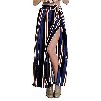 Pantalones Falda Mujer Tiempo Moda Vintage Elegantes Pantalones De ...