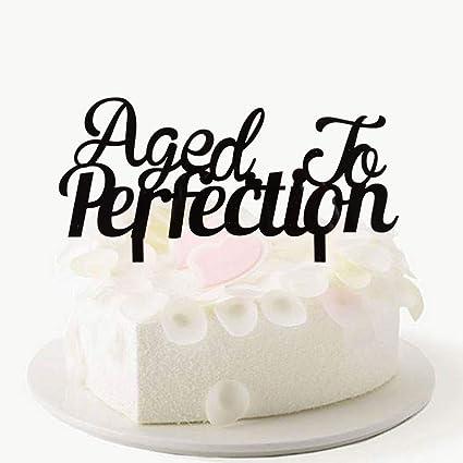 Decoración para tarta de acrílico negro con texto en inglés ...