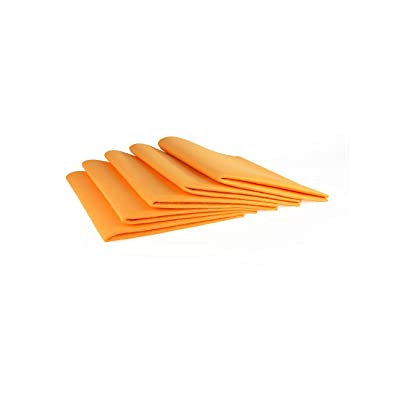 """The Felt Store Chamois Value Pack (5 Pieces): 19"""" x 27"""", Orange: Automotive"""