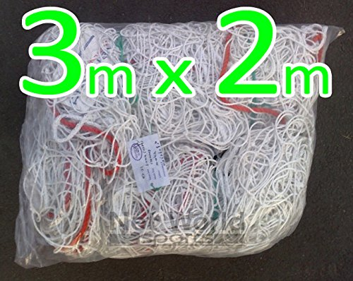 3m x 2m Soccer Goal NetHeavy Duty FUTSAL Net [Net World Sports] (4. Heavy Duty Grade 3m x 2m Net (pair)) (Balls X-duty)