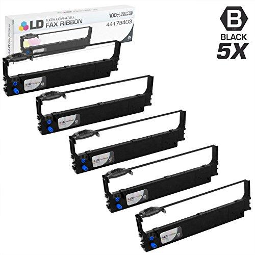 LD Compatible Printer Ribbon Cartridge Replacement for Okidata 44173403 (Black, 5-Pack)