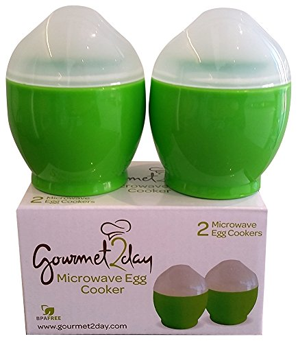 Gourmet2day Microwave Egg Cooker with Recipe eBook (2-Piece) (Nordic Egg Cooker)