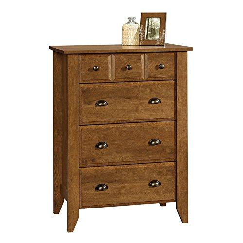 Modern Four Drawer Dresser - Contemporary Elegant Stylish Chest Indoor Furniture Home Living Room Bedroom Storage Additional (Oiled Oak) by Sauder