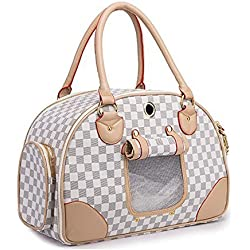 WOpet® Fashion Pet Dog Carrier PU Leather Dog Carriers Luxury Cat Travel Carrying Handbag for Outdoor Travel Walking Hiking