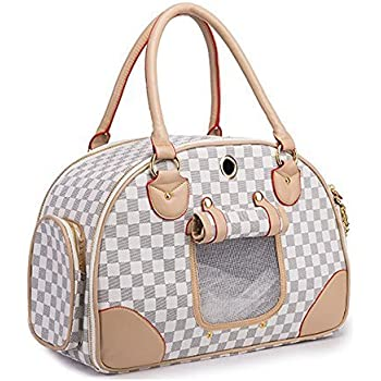 WOpetFashion Pet Dog Carrier PU Leather Dog Carriers Luxury Cat Travel Carrying Handbag for Outdoor Travel Walking Hiking