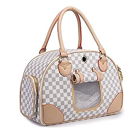 f3895488b89 Amazon.com   WOpet Fashion Pet Dog Carrier PU Leather Dog Carriers Luxury  Cat Travel Carrying Handbag for Outdoor Travel Walking Hiking   Pet Supplies