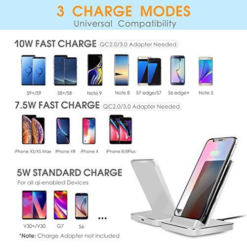 Fast Wireless Charger Aluminium 75w Qi Ladestation Für Iphone Xxsxs Maxxr88 Plus 10w Kabelloses Induktions Ladegerät Schnellladestation Für