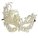 Best Halloween Masquerades - Coxeer Gold Elegant Lady Masquerade Halloween Mardi Gras Review