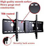 VideoSecu Tilt TV Wall Mount Bracket for most 37 to 70-Inch LCD LED Plasma Screen Display up to VESA 400X400 684X300 700X400mm with HDMI cable, Bubble Level MP502B 3KR
