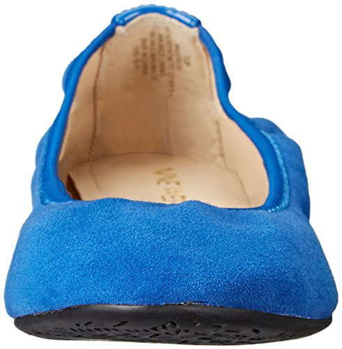 Nine West Womens Giovedi Suede Ballet Flat, Electric Blue, 6 M US