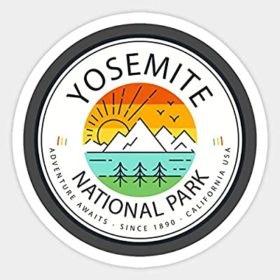 Yosemite National Park - Sticker Graphic - Car Vinyl Sticker Decal Bumper Sticker for Auto Cars Trucks: Kitchen & Dining