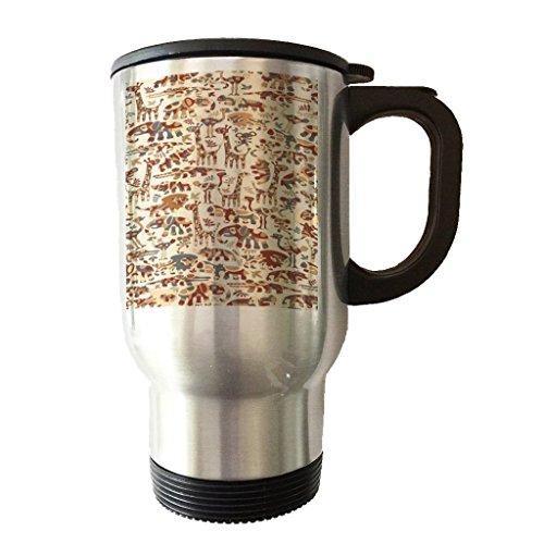 Stainless Steel Travel Tumbler Coffee Mug - Animal Kingdom Safari