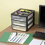 Sterilite 20439002 Medium 3 Drawer Desktop