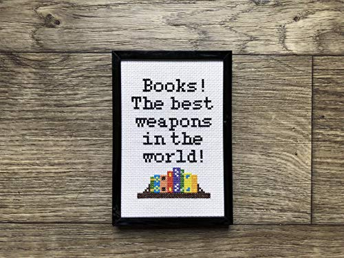 Books The Best Weapons in the World Cross Stitch Kit