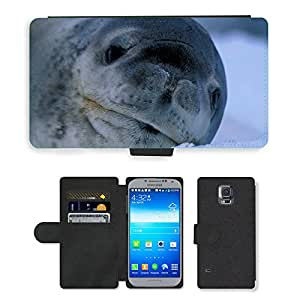 PU LEATHER case coque housse smartphone Flip bag Cover protection // M00109006 Selle Naturaleza Fuera de Mamíferos // Samsung Galaxy S5 S V SV i9600 (Not Fits S5 ACTIVE)
